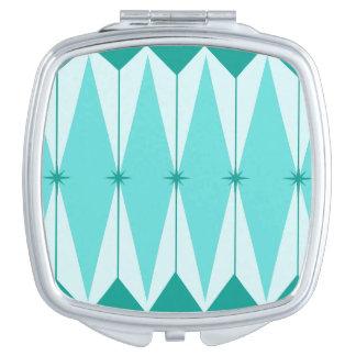 Geometric Diamonds & Starbursts Compact Mirror