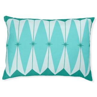 Geometric Diamonds & Starbursts Dog Bed
