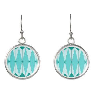Geometric Diamonds & Starbursts Drop Earrings