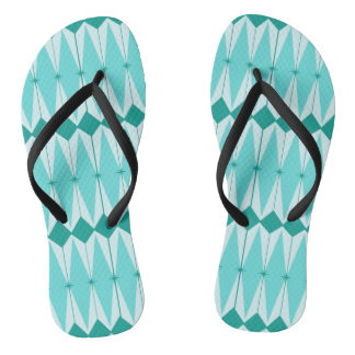 Geometric Diamonds & Starbursts Flip Flops