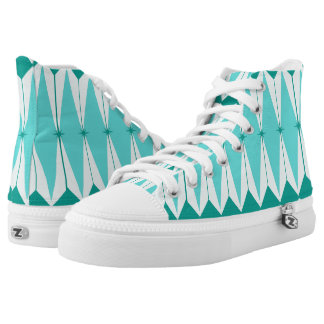 Geometric Diamonds & Starbursts High Top Shoes