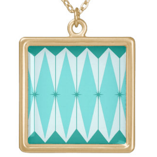 Geometric Diamonds & Starbursts Necklace