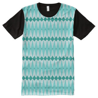 Geometric Diamonds & Starbursts Panel T-Shirt