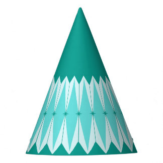 Geometric Diamonds & Starbursts Party Hats