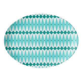 Geometric Diamonds & Starbursts Porcelain Platter