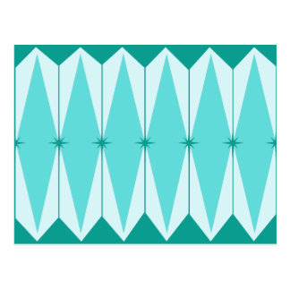 Geometric Diamonds & Starbursts Postcard