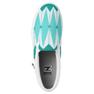 Geometric Diamonds & Starbursts Slip On Shoes