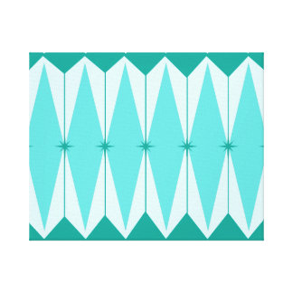 Geometric Diamonds & Starbursts Stretched Canvas