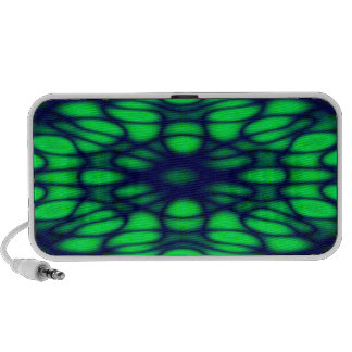 Geometric Diffraction Green and Blue Trippy Waves Speaker System