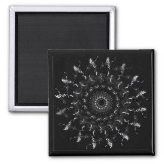 Geometric digital art, spiral magnet