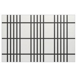 Geometric Divided Black Stripes Pattern Fabric
