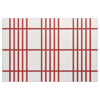 Geometric Divided Red Stripes Pattern Fabric