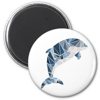 Geometric dolphin magnet