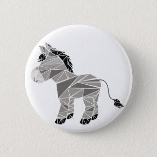 Geometric donkey 6 cm round badge