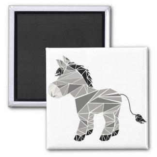 Geometric donkey magnet