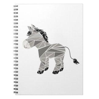 Geometric donkey notebook