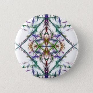 Geometric drawing on white background 6 cm round badge