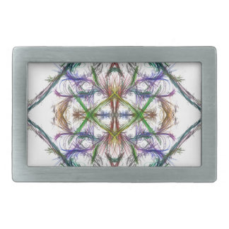 Geometric drawing on white background belt buckles
