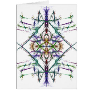 Geometric drawing on white background card