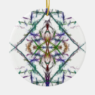 Geometric drawing on white background christmas ornament