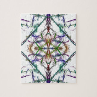 Geometric drawing on white background jigsaw puzzle