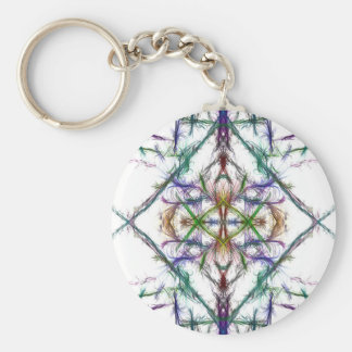 Geometric drawing on white background key ring