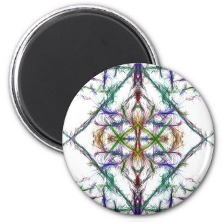 Geometric drawing on white background magnet