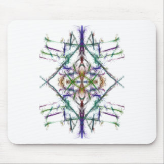Geometric drawing on white background mouse mat