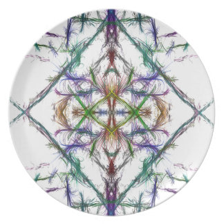 Geometric drawing on white background plate