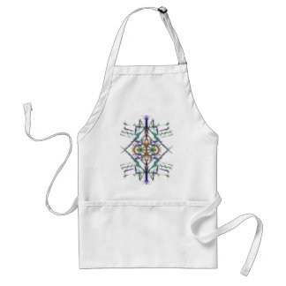 Geometric drawing on white background standard apron