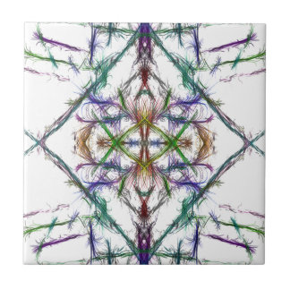 Geometric drawing on white background tile