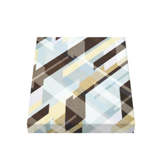 Geometric Earth Tones Abstract Canvas Print