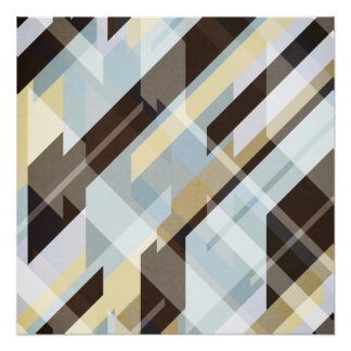 Geometric Earth Tones Abstract Poster