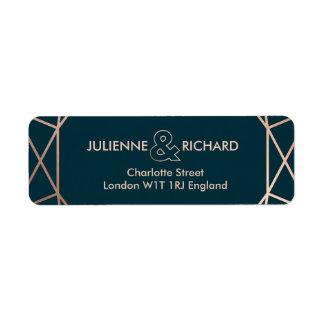 Geometric Elegant Wedding Return Address Labels