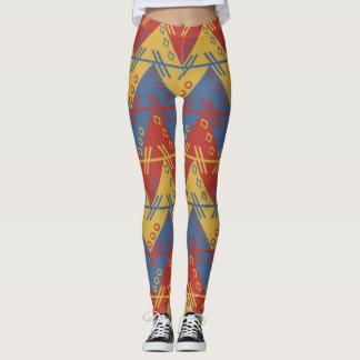 Geometric Expressionism colorful Pattern Leggings