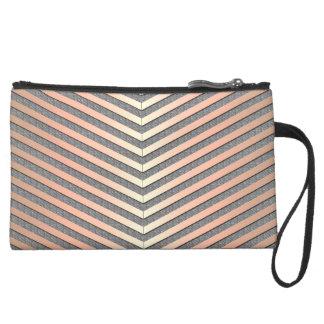 Geometric fantasy wristlet purse