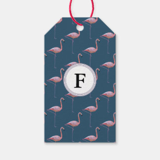Geometric Flamingo Print Customisable Initial Gift Tags