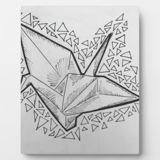Geometric Flight Plaque