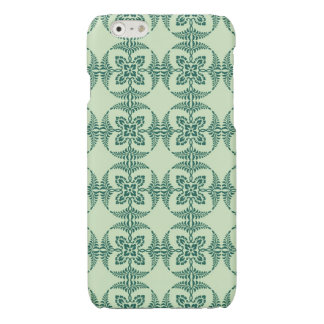 Geometric Floral Pattern in Green iPhone 6 Plus Case