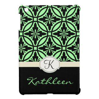 Geometric Floral Pattern Monogram Case For The iPad Mini