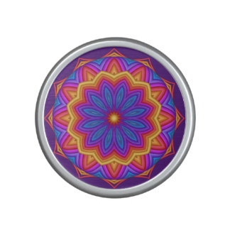 Geometric Flower Medallion Bumpster Speaker
