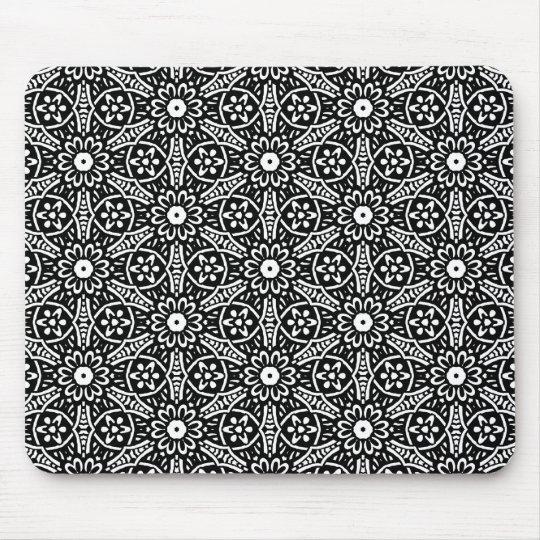 Geometric Flower Pattern Mouse Mat