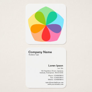 Geometric Flower Square Business Card