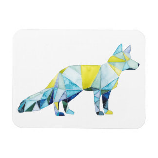 Geometric Fox Animal Rectangular Photo Magnet