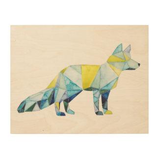 Geometric Fox Animal Wood Wall Decor