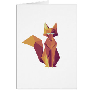 Geometric Fox Card