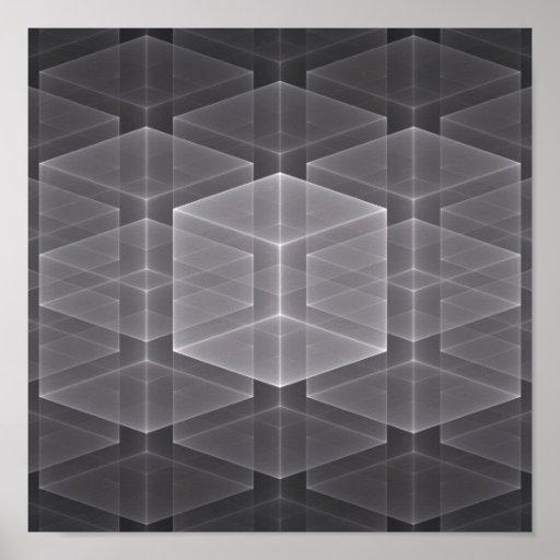 Geometric Fractal Background Poster
