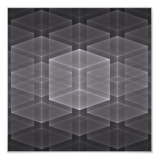 Geometric Fractal Background Poster