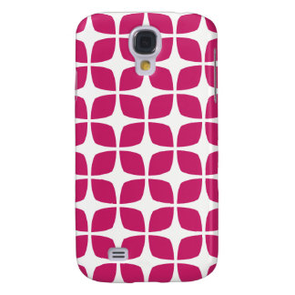 Geometric Galaxy S4 Case / Fuchsia Red