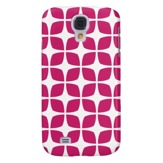 Geometric Galaxy S4 Case / Fuchsia Red